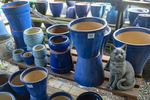 Pots to plant flowers in at Andrews Greenhouse in South Amherst, MA
