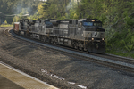 Freight train near Wachusett Station in Princeton, MA