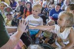Kids learning about animals at Fruitlands Museum