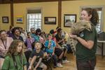 Children learning about wild animals