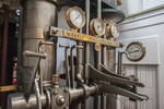 Guages etc in the engine room of the steam ship Ticonderoga at the Shelburne Museum