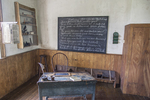 The interior of the Vergennes Schoolhouse at the Shelburne Museum