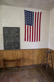 Interior of the Vergennes Schoolhouse at the Shelburne Museum