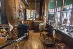 Inside the railroad station at the Shelburne Museum in Vermont