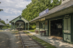 Railroad depot at The Shelburne Museum in Vermont