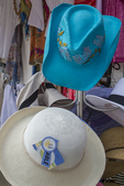 Colorful hats at a retail store on Main Street in Concord, MA
