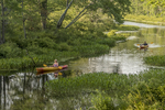 Two kayakers on the Tully River in Royalston, MA