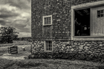 An old barn in Princeton, MA - sheep going out to graze