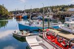 Boats in the harbor at Head Harbor, Campobello Island, New Brunswick, Canada