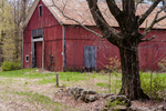 Old red barn in Hardwick, MA