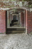 Interior view of Fort Knox in Prospect, Maine