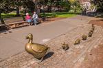 Duck sculpture in the Boston Public Garden