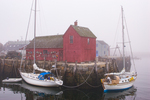 Motif #1 in a foggy Rockport, MA harbor