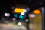 Out of focus lights at Wachusett Station, Princeton, MA