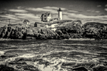 Nubble Light in Black and White