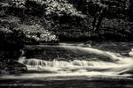 A river waterfall on the Pemigewassett River in Franconia Notch region