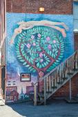 A wall mural on a building in downtown Northampton, MA