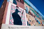 A beautiful wall mural in downtown Northampton, MA