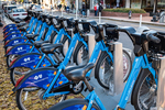 Blue bikes for rent