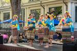 Dancers performing at the Thai Festival in Harvard Square