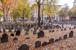 The Old Granary Burying Ground on Tremont Street in Boston, MA
