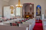 The interior of St John's Episcopal Church in Ashfield, MA