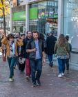 People on the street in Cambridge, MA