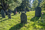 The Old Burying Ground cemetery in Groton, Massachusetts