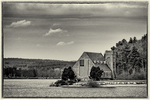 The Old Stone Church on the banks of the Wachusett Reservoir, West Boylston, MA