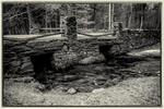 An old stone bridge in Templeton, MA, on the site of the now closed Fernald School