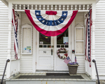 The Phillipston, Massachusetts Town Hall decorated for Memorial Day