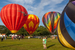Hot air balloons at the Green River Festival in Greenfield, Massachusetts
