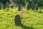 The Old Burying Ground in Groton, Massachusetts dates back to 1678
