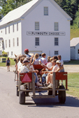 Plymouth, VT - the birthplace of President Calvin Coolidge. People participating in a celebration of Calvin Coolidge.