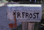 Robert Frost's mailbox in front of his home in Franconia, NH