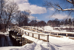 The Old North Bridge in Concord, Massachusetts in the winter