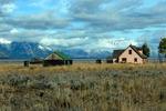 the Pink House Mormon Row Jackson Hole Wyoming