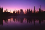 LF 191.  Dawn from Spirit Lake.  Mt. Rainier National Park, WA