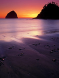 LF 208.  Dusk over Haystack Rock and Cape Kiwanda.  Central Oregon Coast.