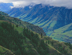 LF 337.  Spring and overhanging clouds in the Imnaha River Canyon of Hells Canyon National Recreation Area, OR