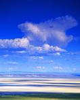 MF 56.  Clouds drift across the Alvord Desert.  Steens Mountain Wilderness, OR