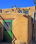 MF 71.  An adobe house at Taos Pueblo, NM