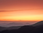MF 9.  Salmon colored skies and fog filled valleys at dawn in Western Marin County, CA