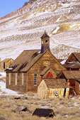 SF 2024.  A light snowfall at Bodie State Park, CA