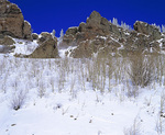 MF 32.  The snow covered terrain of Cumbres Pass, CO at mid fall.