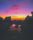 MF 362.  Sunset from a tidal pool at Salt Point State Park, Sonoma County, CA