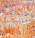 MF 442.  A light dusting of snow at early fall over the hoodoos of Bryce Canyon National Park, UT