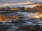 LF 264.  Smelt Sands State Recreation Site at sunset.  Central Oregon Coast