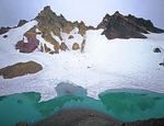 LF 146.  The tarn of the north face of Broken Top at mid summer.  Three Sisters Wilderness, OR