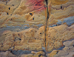 LF 433.  Abstract on sandstone at Weston Beach, Point Lobos State Reserve, Big Sur, CA